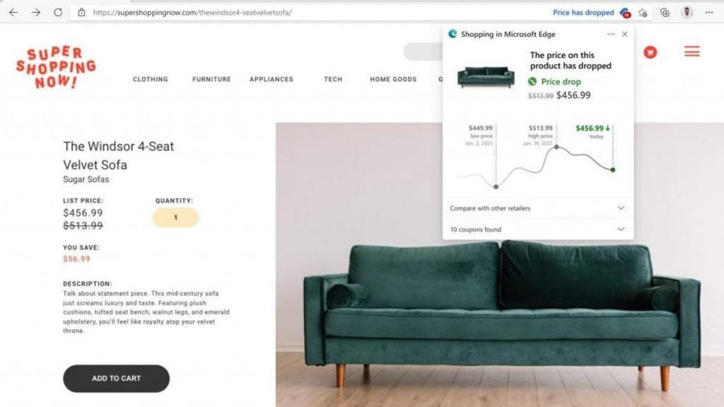 How to Find the Best Online Prices Using Microsoft Edge