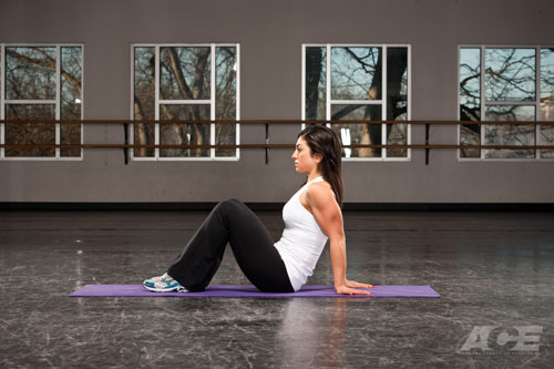 Arm Exercises   Seated Bent-Knee Biceps Stretch