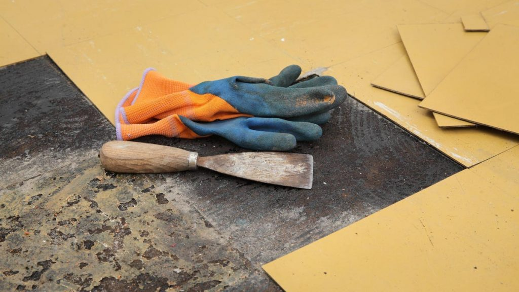 Use an Iron to Easily Remove Vinyl Flooring